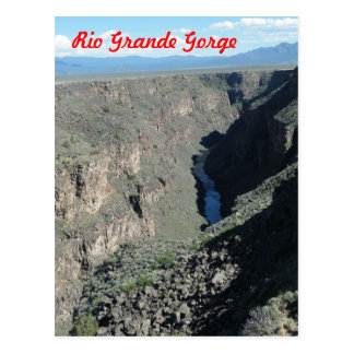 リオ・グランデ川の峡谷 ポストカード