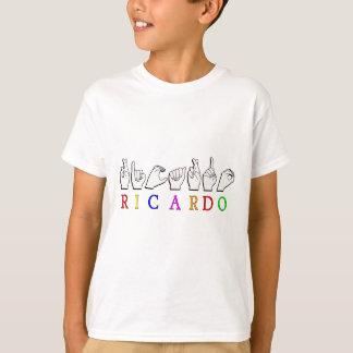 リカルドASL FINGERSPELLEDの一流の印 Tシャツ