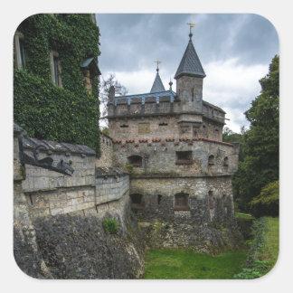 リキテンスタインの城- Baden Wurttemberg -ドイツ スクエアシール