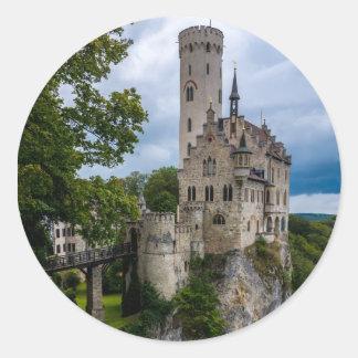リキテンスタインの城- Baden-wurttemberg -ドイツ ラウンドシール