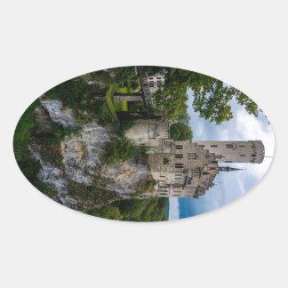 リキテンスタインの城- Baden-wurttemberg -ドイツ 楕円形シール