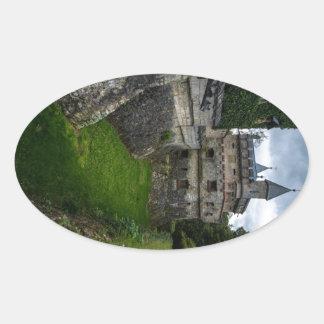リキテンスタインの城- Baden Wurttemberg -ドイツ 楕円形シール