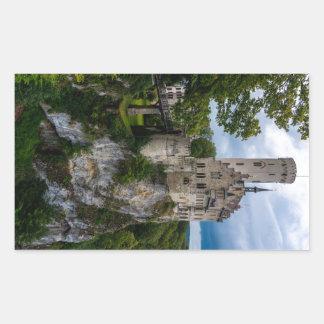 リキテンスタインの城- Baden-wurttemberg -ドイツ 長方形シール