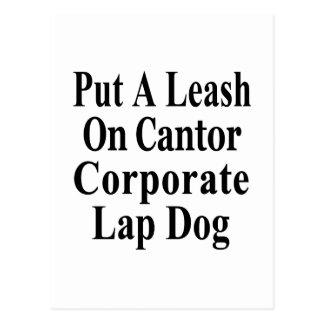 リコールのエリックの先唱者のKochの油の愛玩用小犬 ポストカード