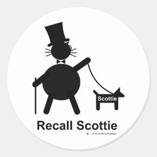 リコールのスコッチテリア ラウンドシール