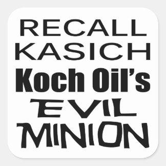 リコールの知事のジョンKasich Kochの油の子分 スクエアシール