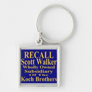リコールの知事のスコットの歩行者の企業のな子分 キーホルダー