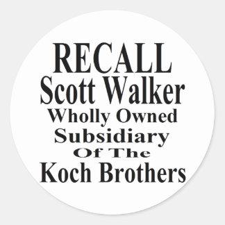リコールの知事のスコットの歩行者の企業のな子分 ラウンドシール