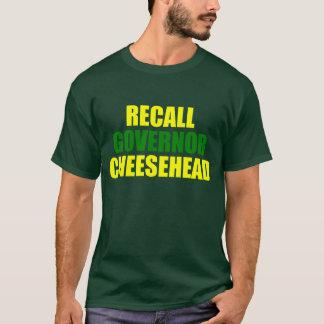 リコールの知事Cheesehead (緑) Tシャツ