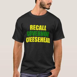 リコールの知事Cheesehead (黒) Tシャツ