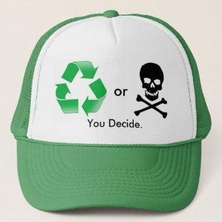 リサイクルか死: トラック運転手の帽子を決定します キャップ