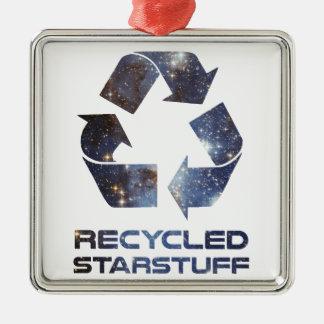 リサイクルされた星の物 メタルオーナメント
