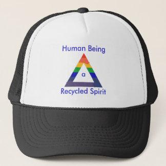 リサイクルされた精神の虹の三角形の帽子 キャップ