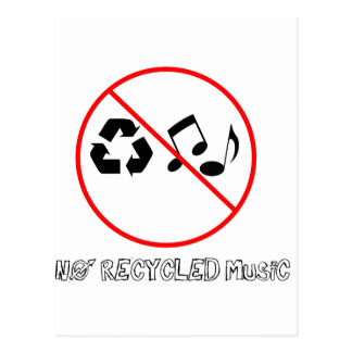 リサイクルされた音楽無し ポストカード