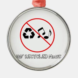 リサイクルされた音楽無し メタルオーナメント