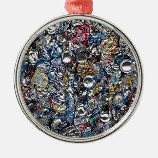 リサイクルされるアルミ缶 メタルオーナメント