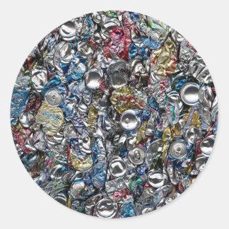 リサイクルされるアルミ缶 ラウンドシール