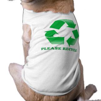 リサイクルして下さい。 認識度のリサイクル。 緑は行きます ペット服