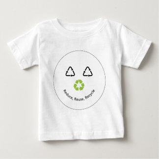 リサイクルのおもしろいな顔 ベビーTシャツ
