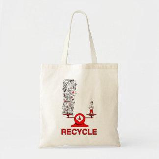 リサイクルのごみ袋 トートバッグ