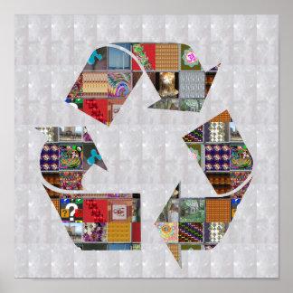 リサイクルのチャンピオンの環境の地球温暖化NVN532 ポスター