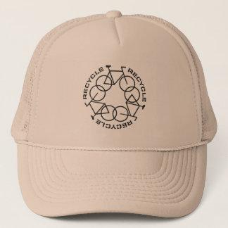 リサイクルのトラック運転手の帽子 キャップ