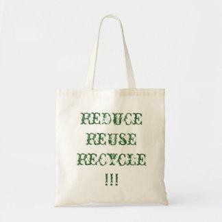 、リサイクルのバッグかトート減らして下さい、再使用して下さい トートバッグ