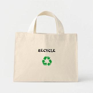 リサイクルのバッグ ミニトートバッグ