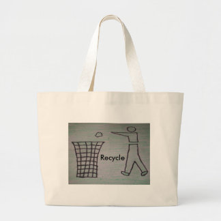 リサイクルのバッグ ラージトートバッグ