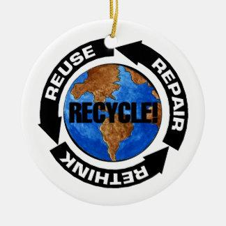 リサイクルの世界 セラミックオーナメント