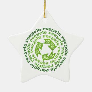リサイクルの印のカスタムなオーナメント セラミックオーナメント