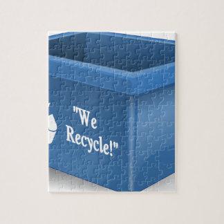 リサイクルの回収容器 ジグソーパズル