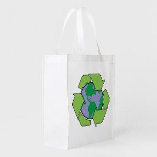 リサイクルの地球 エコバッグ