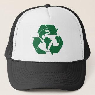 リサイクルの地球 キャップ