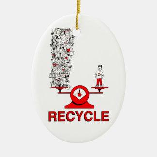 リサイクルの屑のオーナメント セラミックオーナメント
