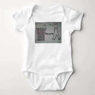 リサイクルの幼児のTシャツ ベビーボディスーツ