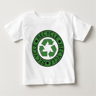 リサイクルの緑のロゴBKの手紙 ベビーTシャツ