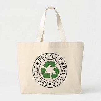 リサイクルの緑のCeterのロゴ ラージトートバッグ