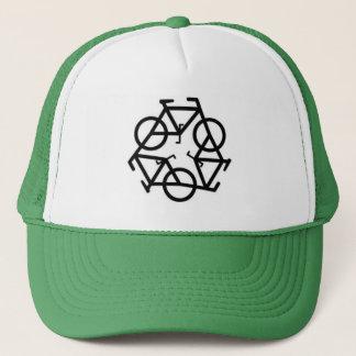 リサイクルの自転車のロゴの記号 キャップ