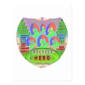 リサイクルの英雄賞-今励まして下さい ポストカード