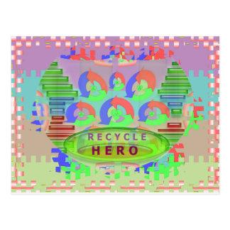 リサイクルの英雄賞-緑のテーマ ポストカード