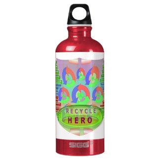 リサイクルの英雄-報酬賞のインスピレーション ウォーターボトル