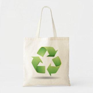 リサイクルの記号のトートバック トートバッグ
