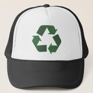 リサイクルの記号の帽子 キャップ