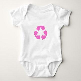 リサイクルの記号のTシャツ ベビーボディスーツ