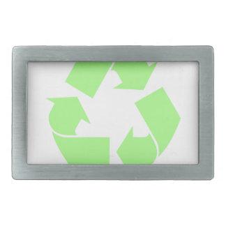 リサイクルの記号 長方形ベルトバックル