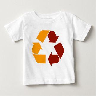 リサイクルの赤 ベビーTシャツ