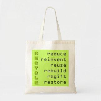 リサイクルの食料雑貨のトートバック トートバッグ