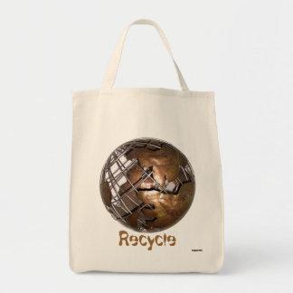 リサイクルの食料雑貨 トートバッグ