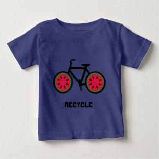 リサイクルのbycycleの赤ん坊のTシャツ ベビーTシャツ